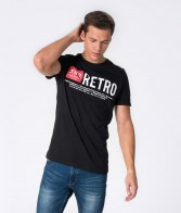 RETRO JEANS ERMIN T-SHIRT,BLACK