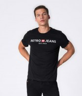 RETRO JEANS ENOS T-SHIRT,BLACK