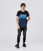 RETRO JEANS TOR T-SHIRT,BLACK