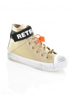 RETRO JEANS LIVIA TAPE SNEAKERS,GOLD