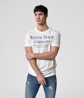 RETRO JEANS FLORIAN T-SHIRT,WHITE