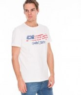 RETRO JEANS UNITED T-SHIRT,WHITE