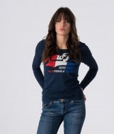 RETRO JEANS ELONORA  L.S TOP,DARK BLUE