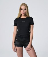 RETRO JEANS ODELIA T-SHIRT,BLACK