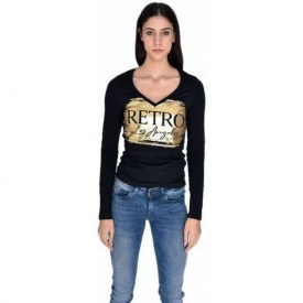 RETRO JEANS HALEINE L.S TOP,BLACK