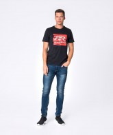 RETRO JEANS EWEN T-SHIRT,BLACK